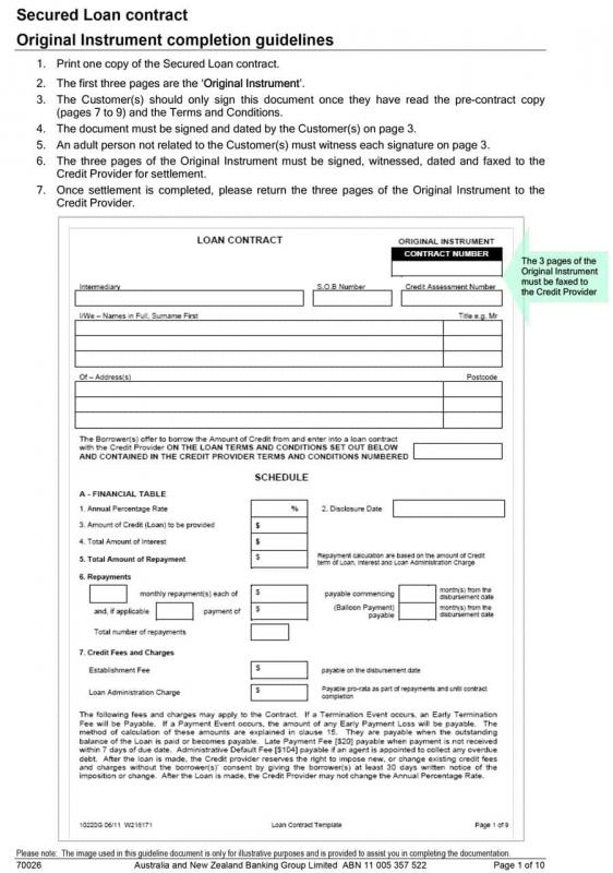 loan document template