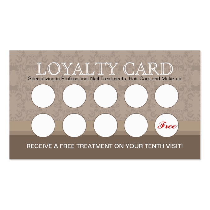 loyalty card template. Black Bedroom Furniture Sets. Home Design Ideas