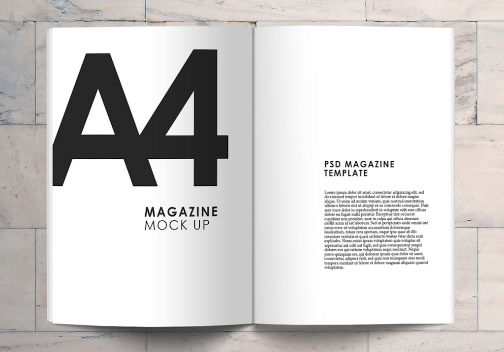 magazine ad template
