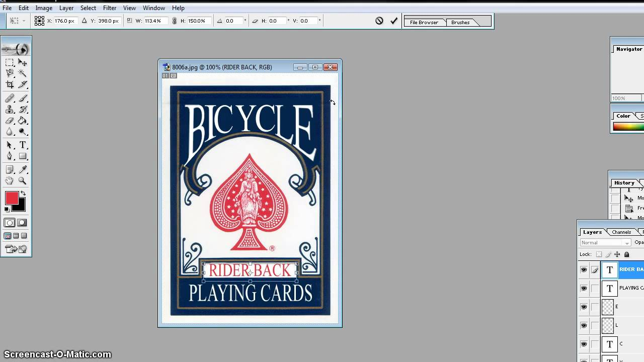make your own playing cards template