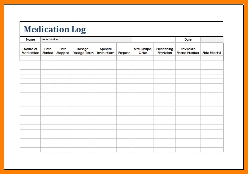 Medical Chart Template Shatterlionfo