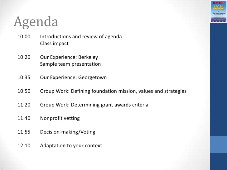 Meeting Agenda Template  ShatterlionInfo