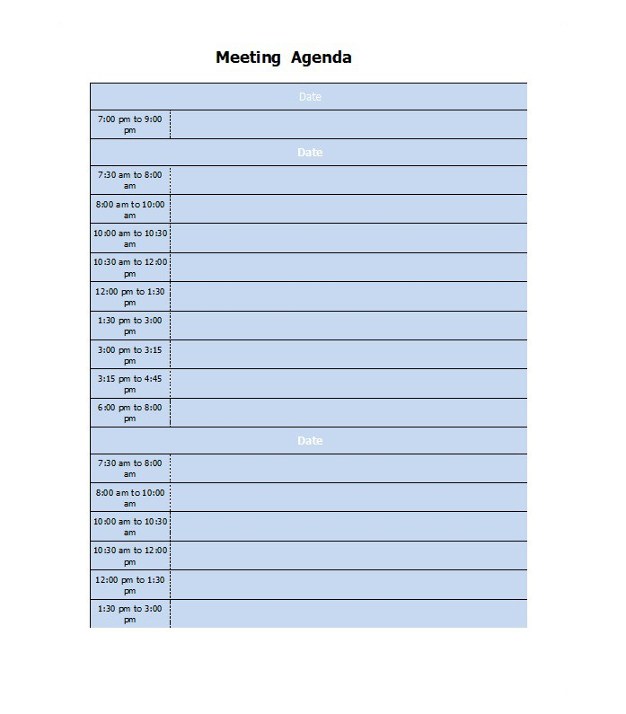 meeting agenda template word