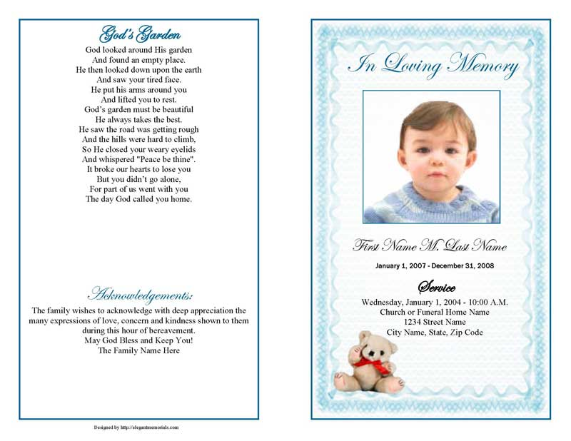 Funeral Order Of Service Template Word Urgup Kapook Co