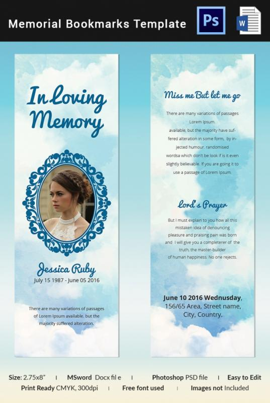 Memorial Program Template  ShatterlionInfo