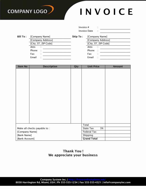 microsoft excel invoice template