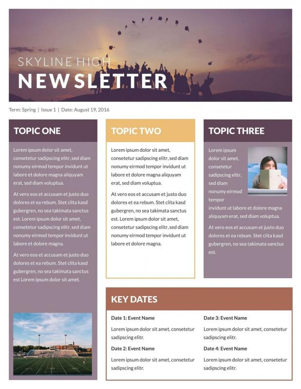 microsoft newsletter templates