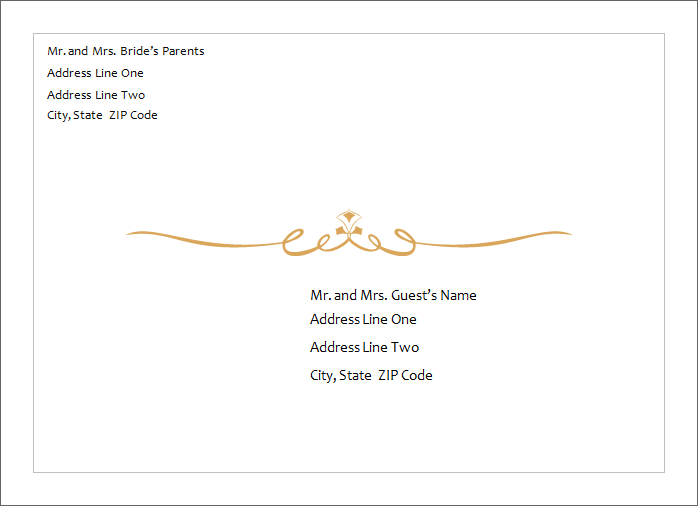 Microsoft Word Envelope Template
