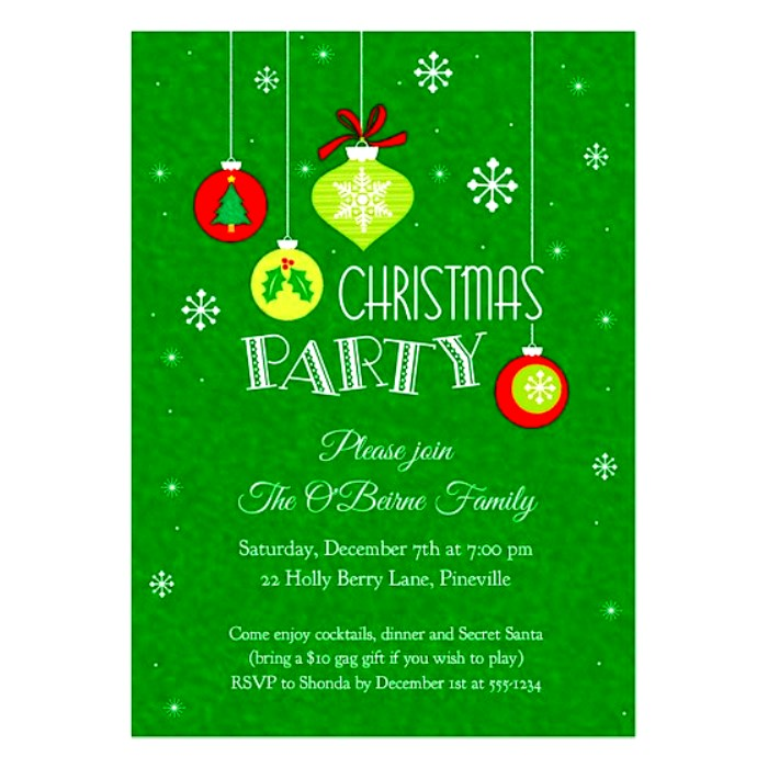 free christmas party invitation templates word - Kubre.euforic.co