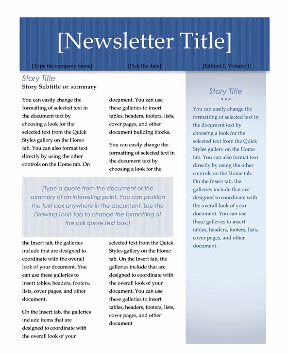 Perfect Fieldstation.co And Microsoft Word 2007 Newsletter Templates