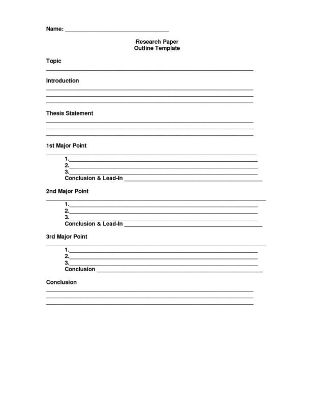 Mla Format Outline Template