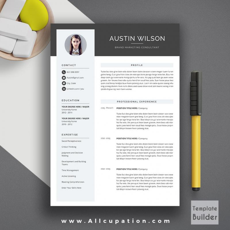 Modern Resume Template Free Obtain