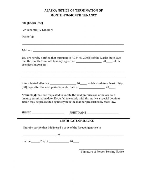 month to month lease termination letter template