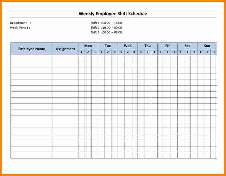 Monthly Employee Schedule Template Excel Shatterlionfo