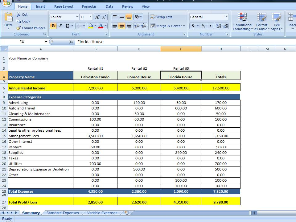ms excel templates