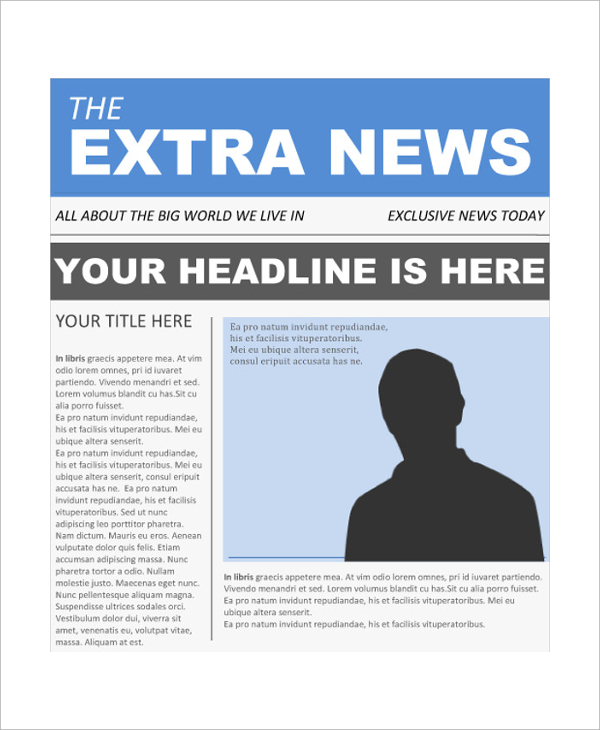 Newspaper Headline Template  ShatterlionInfo