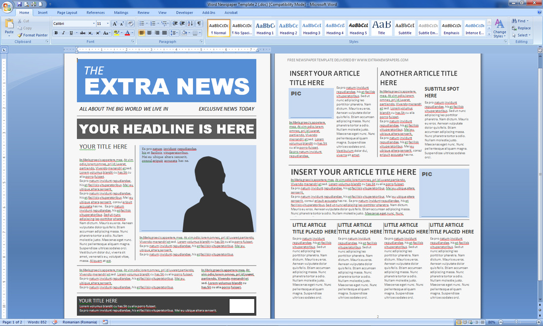 Newspaper Template Publisher Shatterlionfo