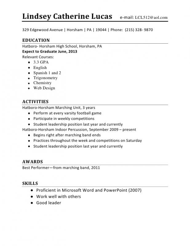No Work Experience Resume Template  Resume For Someone With No Work Experience
