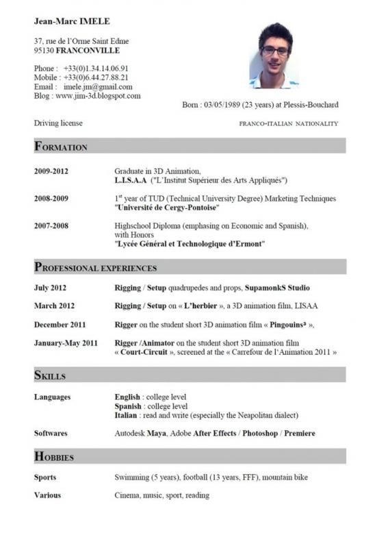 no work experience resume template