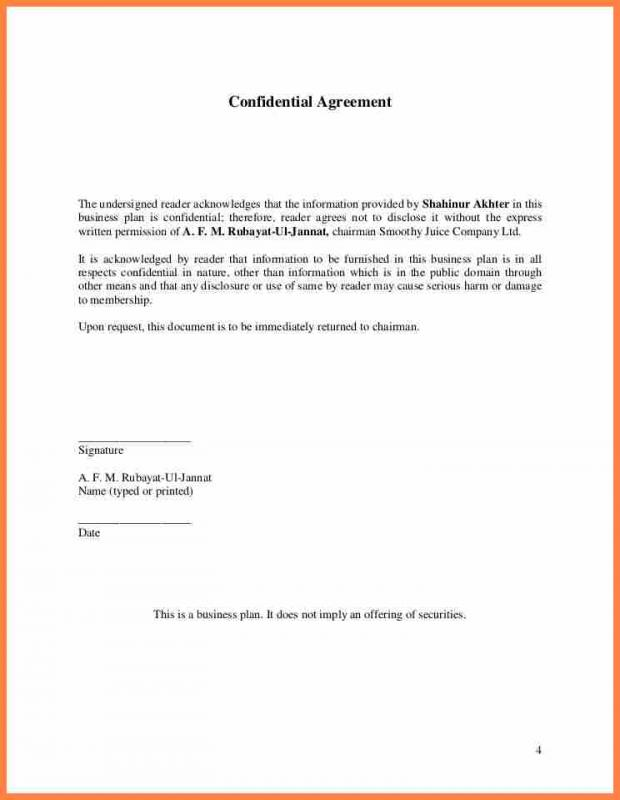 Non Disclosure Agreement Template Shatterlionfo