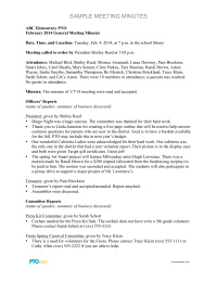 non profit board meeting minutes template