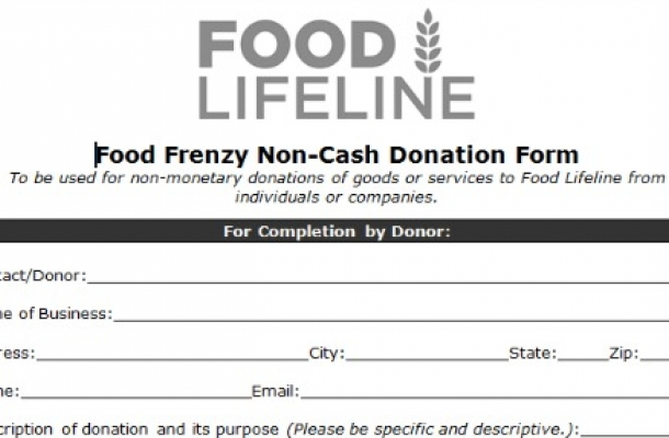 non revenue donation receipt template