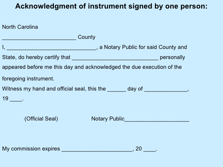 notary signature template