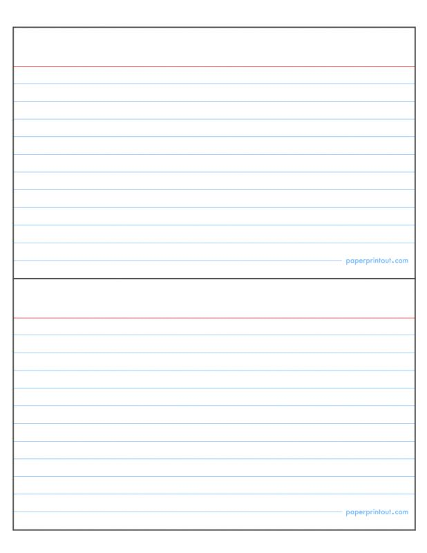 Note Card Template Word | shatterlion.info