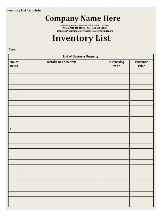 office supplies inventory template. Black Bedroom Furniture Sets. Home Design Ideas