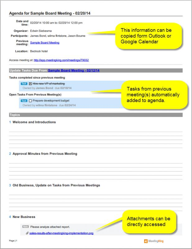 One On One Meeting Template  One On One Meeting Agenda Template