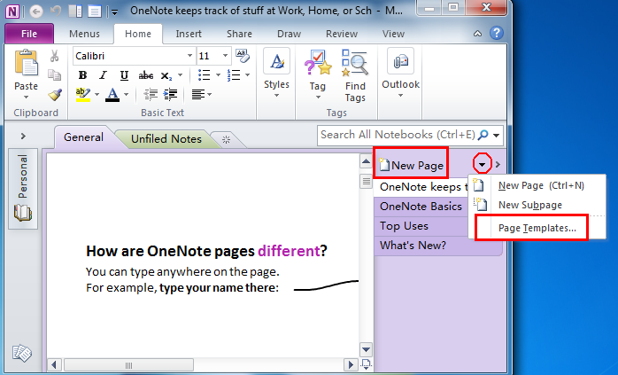Onenote to do list template for Onenote task management template