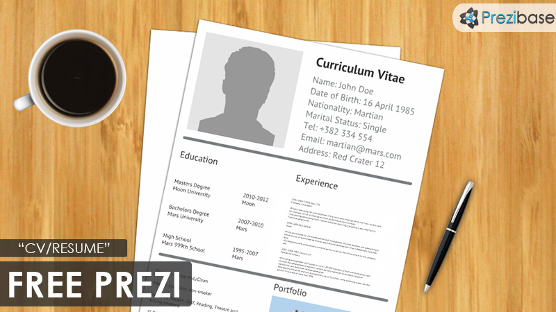open office resume template free