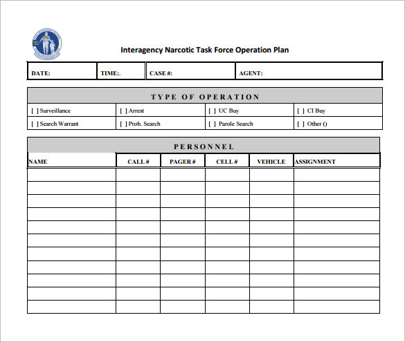 operational plan template