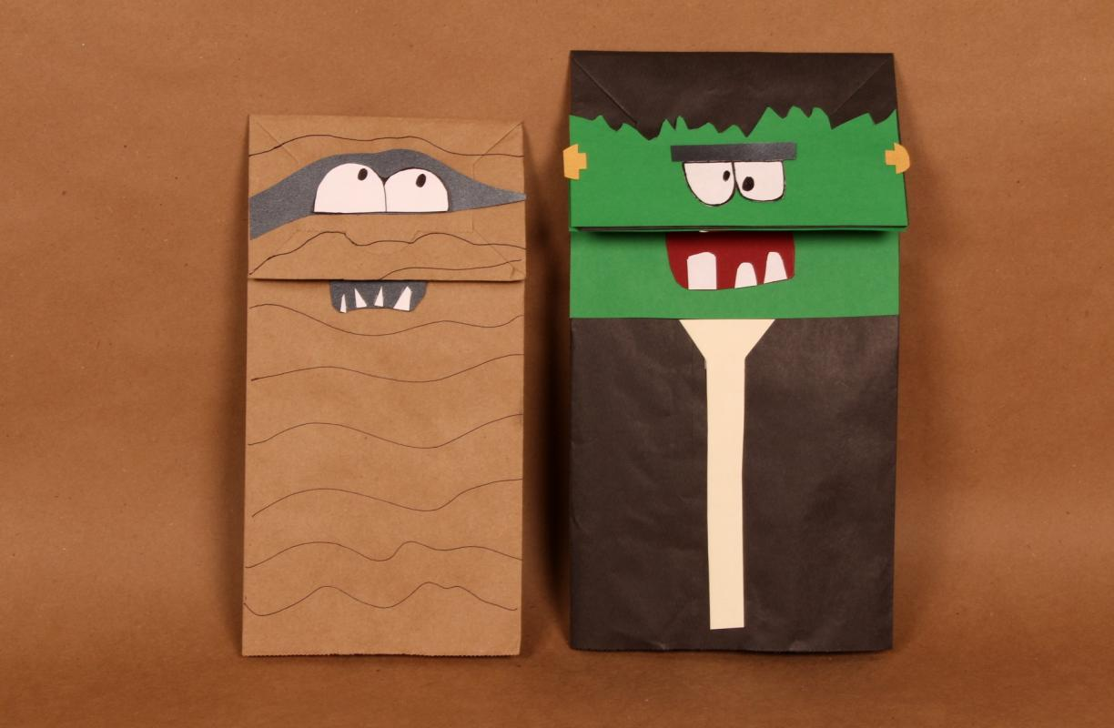 paper bag puppet templates