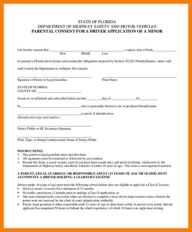 Parental Consent Form Template  ShatterlionInfo