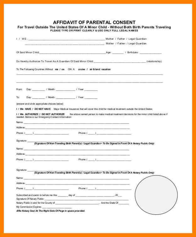 Affidavit of parental consent form template images template design parental consent to travel form template choice image template parental consent form template shatterlionfo parental consent thecheapjerseys Images