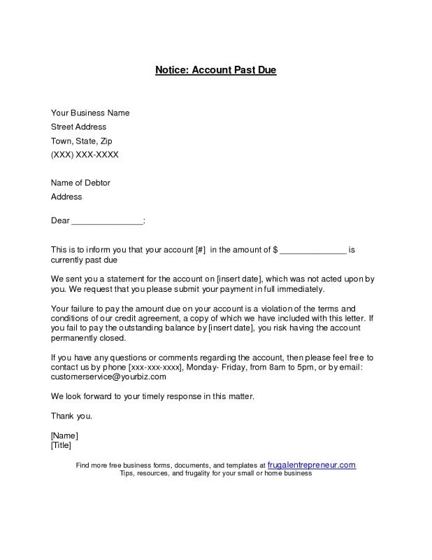 Past Due Letter Template Shatterlioninfo - Past due invoice template