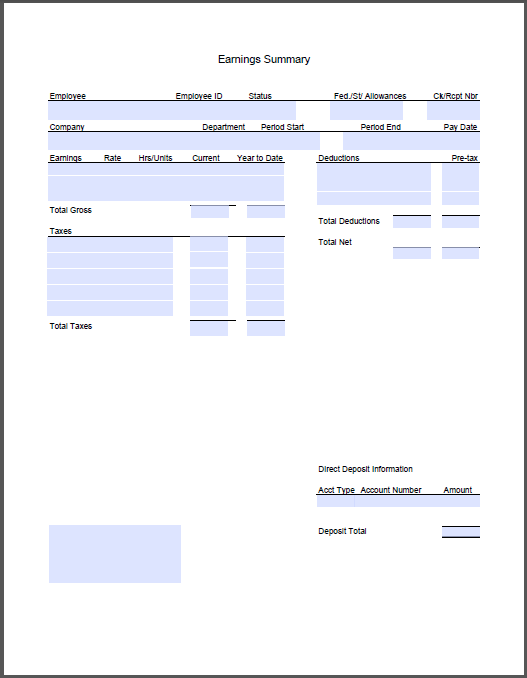 Best Resumes And Templates For Your Business   Sahkotupakka.co  Payroll Stub Template Free