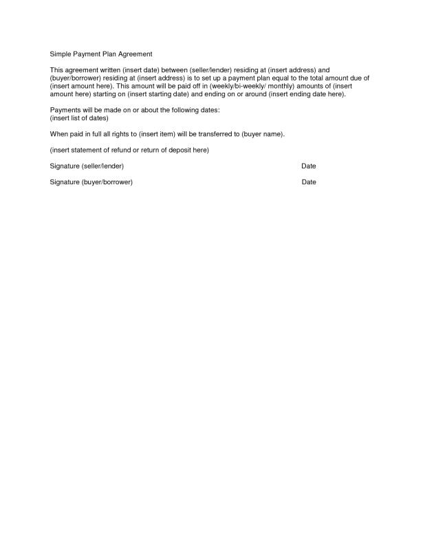 payment plan agreement template