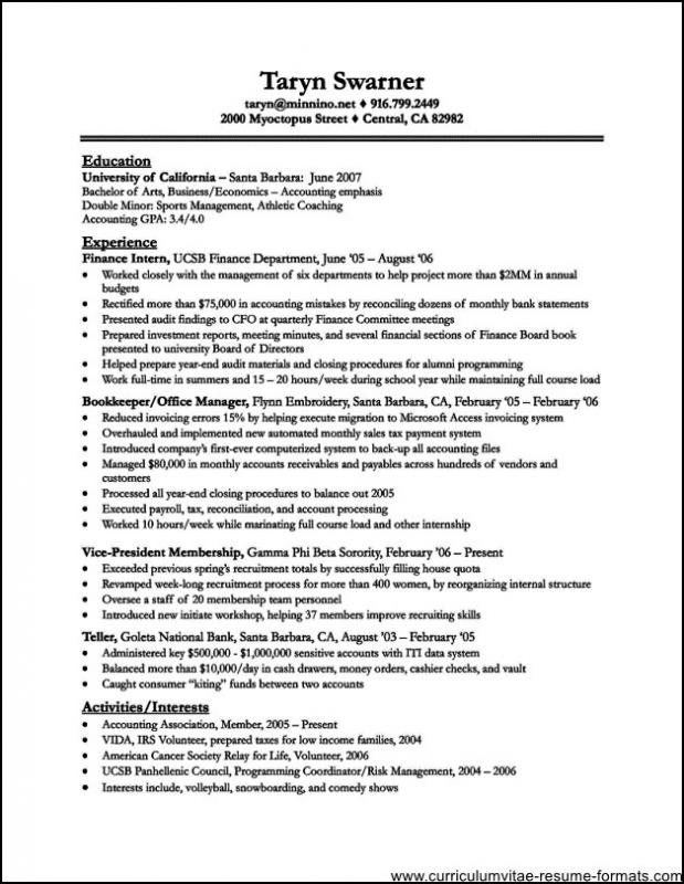 Perfect Resume Template  ShatterlionInfo