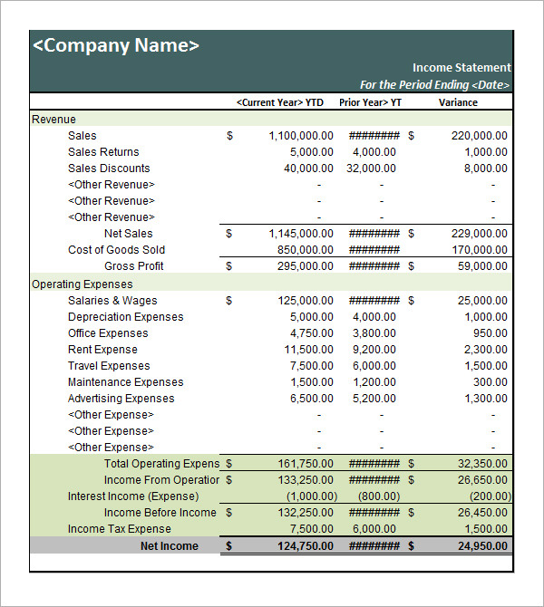 Private Balance Sheet Template  Balance Sheet Statement Format