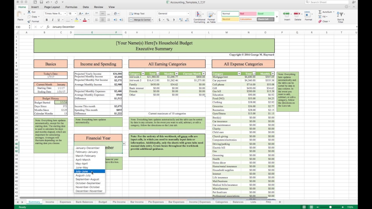 personal finance budget template excel gallery avery