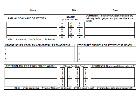 Personal goal setting template for Goals and objectives template excel
