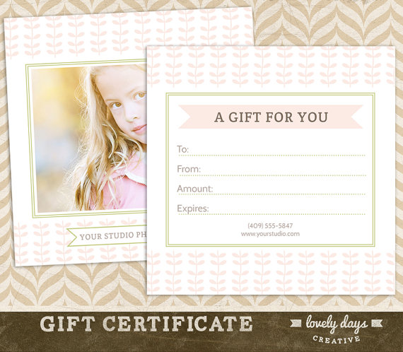 pictures gift certificate template free photography