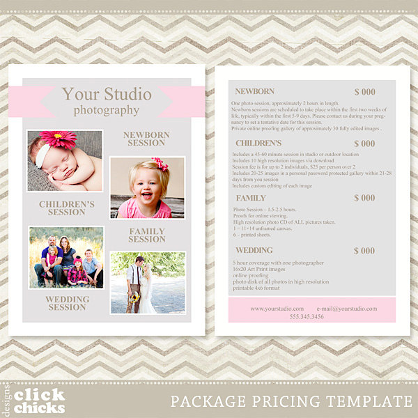 Photography Price List Template Shatterlioninfo - Free pricing template for photographers