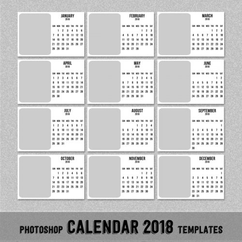 photoshop calendar template
