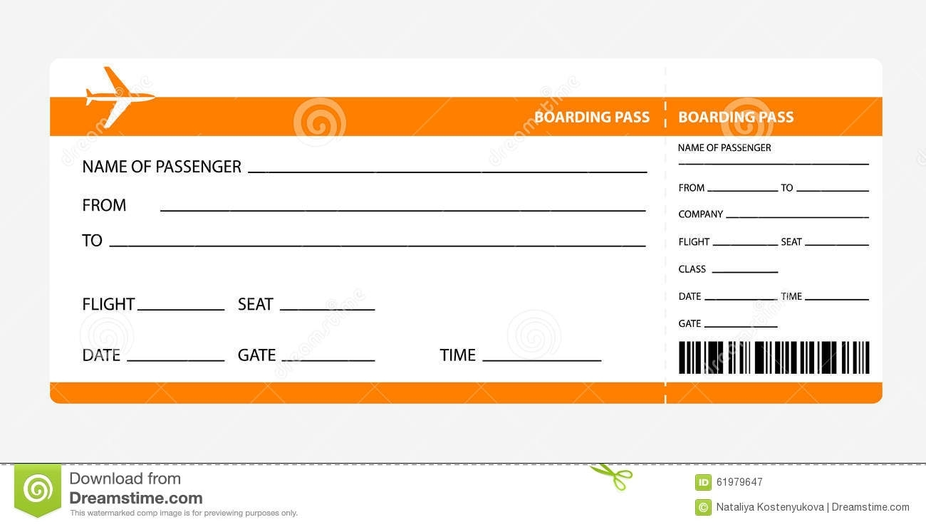 Plane Ticket Template | shatterlion.info