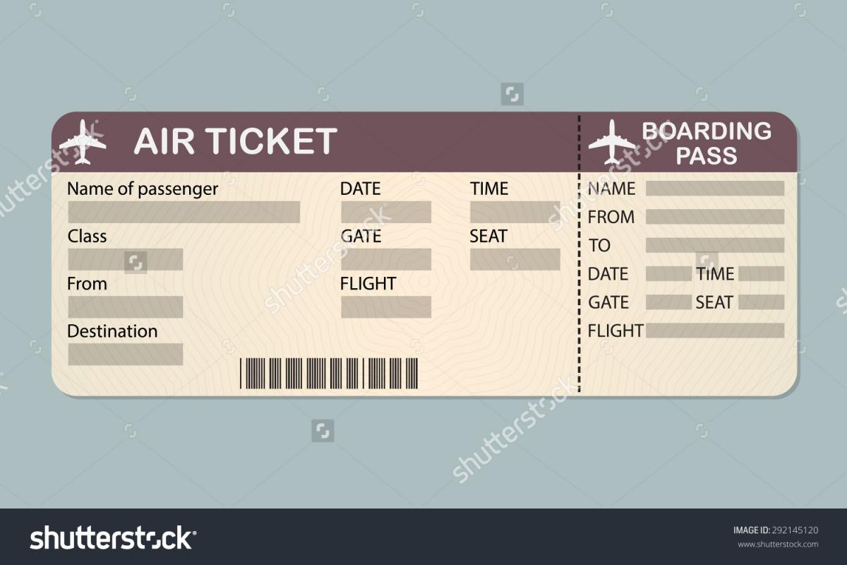 plane ticket template