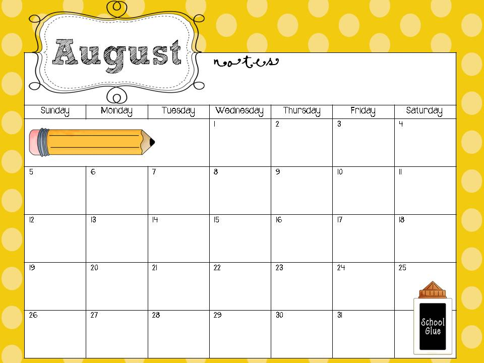 Preschool calendar template for Kindergarten timetable template