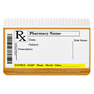 Prescription Bottle Label Template | shatterlion info